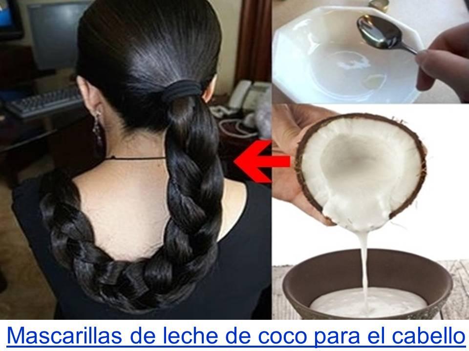 mascarillas de leche de coco