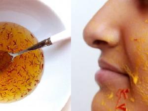 mascarillas de azafarán para la piel