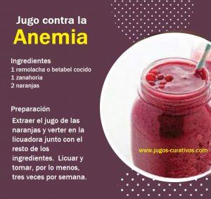 jugos para combatir la anemia rapidamente