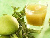 jugo de mango verde