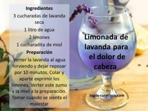 limonada para el dolor de cabeza