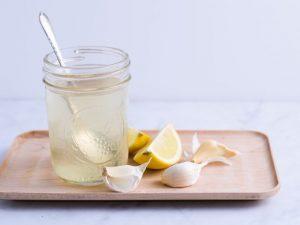 Té de limón con ajo