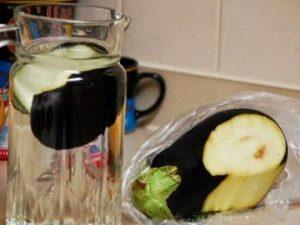 como preparar agua de berenjena para adelgazar